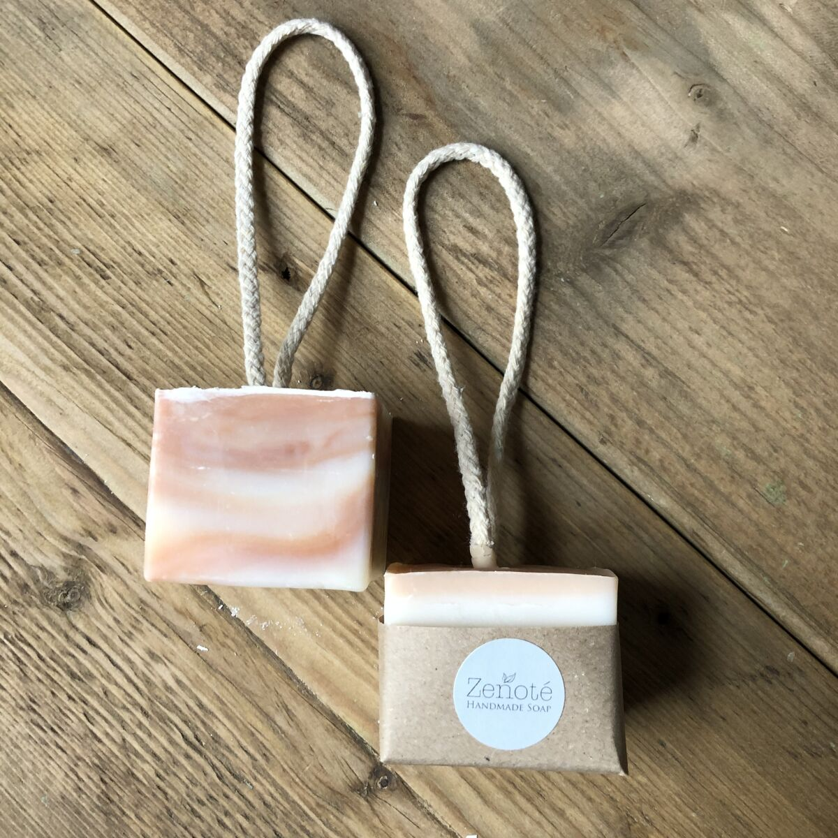 Pink Clay & Lavender Soap on a Rope