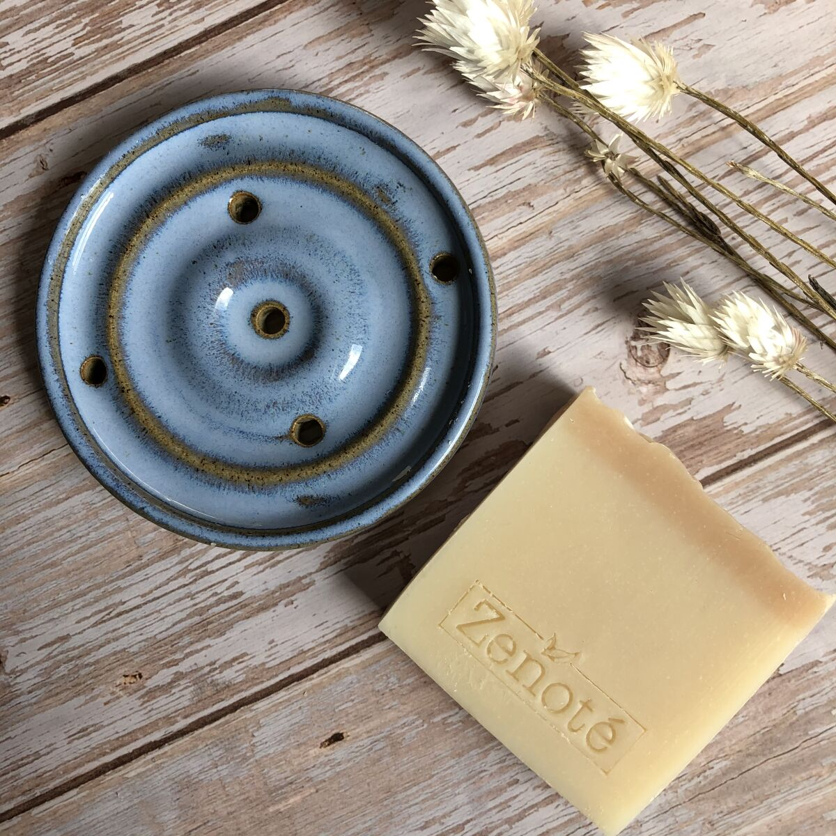 Blue Ceramic Soap Dish