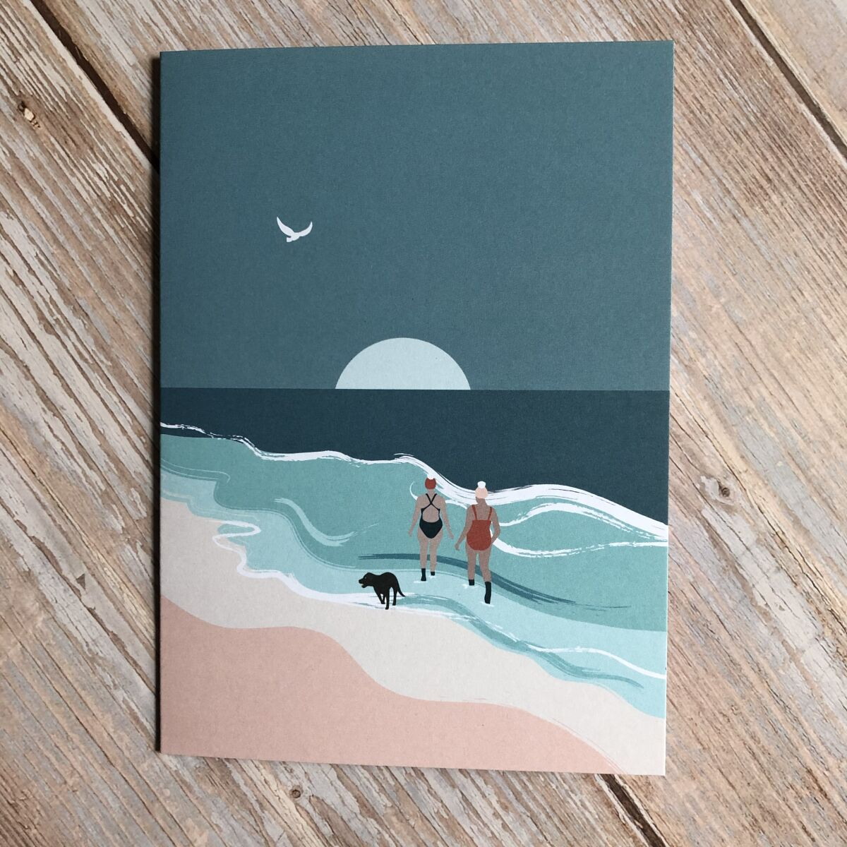 Wild Swimming Greeting Card