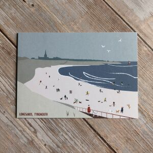 Tynemouth Longsands Greetings Card