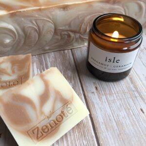 Pink Clay & Lavender Soap & Candle Set