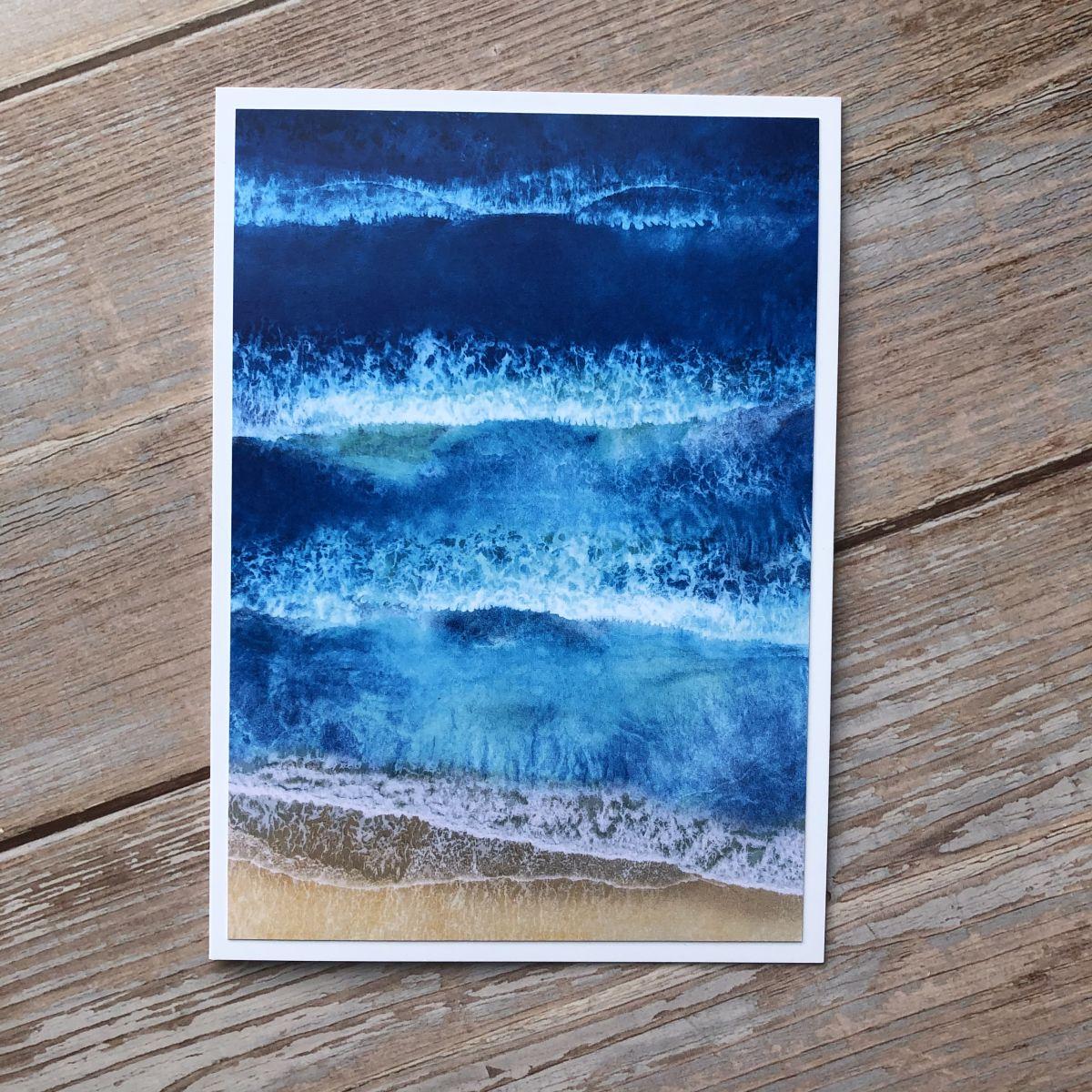 Ocean Waves Greetings Cards
