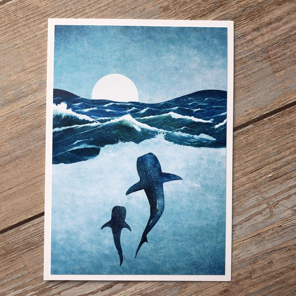 Ocean Whale Greetings Card