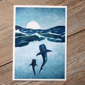 Whale Greetings Card