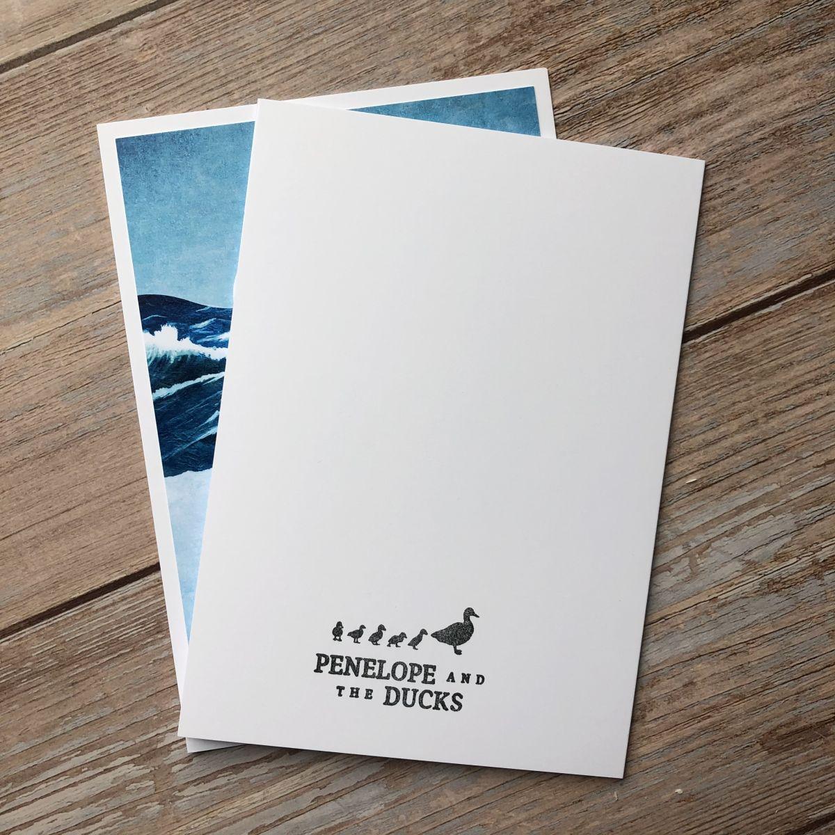 Reverse Side Ocean Whale Greeting Card